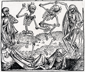 "Michael Wolgemut, ""Dance of Death"", 1493, Nuremberg Chronicles"