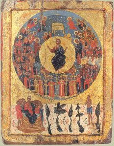 Eastern Orthodox icon of All Saints used on All Saints Sunday.