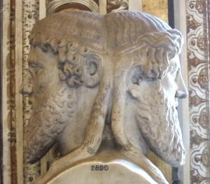 Bust of the god Janus in the Vatican Museum.