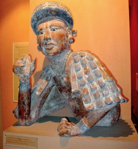 Mayan nobleman offering cocoa paste. Image courtesy of Yelkrokoyade,