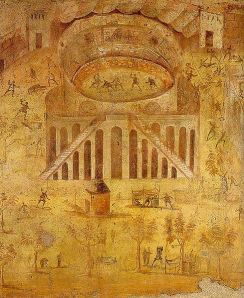 Riot in the amphitheatre' fresco from Pompeii, now in the National Archaeological Museum at Naples